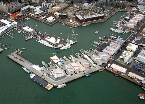 Aerial view of the viaduct showing just how many America's Cup projects we completed